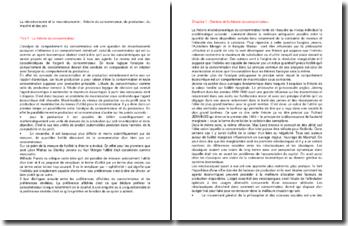 La microéconomie et la macroéconomie : théorie du consommateur, du producteur, du marché et des prix