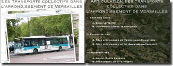 Plan: les transports collectifs dans l'arrondissement de Versailles