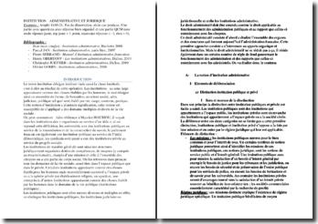 Institution administrative et juridique