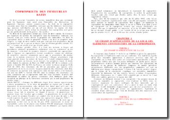 La copropriété des immeubles bâtis - éléments constitutifs, règlements, charges, syndicat, assemblée, syndic