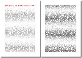 La société de construction en France