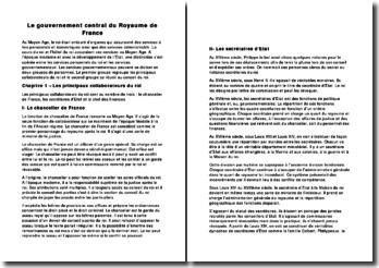 Le gouvernement central du Royaume de France