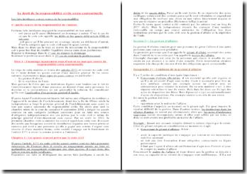 Le droit de la responsabilité civile extra contractuelle: les quasis contrat prévu par le code civil