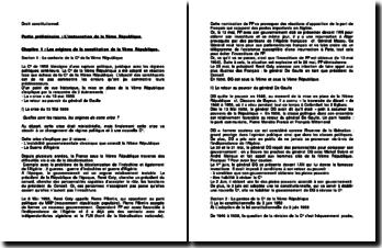 Le contexte de la Constitution de la Vème République