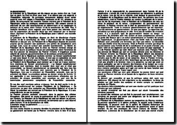 Fiche : La constitution du gouvernement