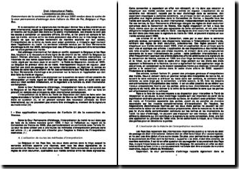 Cour Permanente d'Arbitrage, 24 mai 2005: l'interprétation des traités