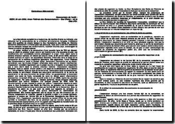 CEDH, 30 juin 2009, Union Fédérale des Consommateurs « Que Choisir » de la Côte d'Or contre la France