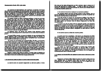 Conseil d'Etat, 3 juin 2009: la classification des contrats dans le domaine privé ou public