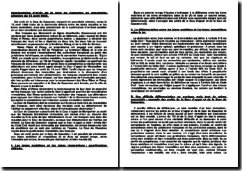 Cour de Cassation, Assemblée plénière, 15 avril 1988: la distinction entre bien mobilier et bien immobilier