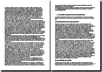 Commentaire comparé, Cour de cassation, Chambre criminelle, 1 février 1956 et 20 mars 1980: la légalité des actes