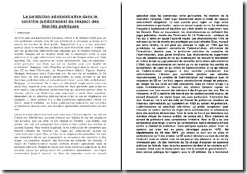 La juridiction administrative dans le contrôle juridictionnel du respect des libertés publiques