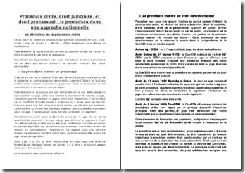 Procédure civile, droit judiciaire, et droit processuel : la procédure dans une approche notionnelle