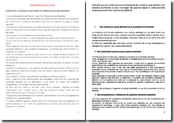 Les juridictions du travail: procédure prud'homale et exigences du procès équitable