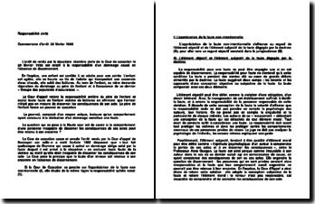 Cour de cassation, Chambre civile, 28 février 1996: la responsabilité civile