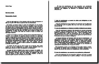 Cour de Cassation, 1ère chambre civile, 16 juillet 1997: l'acte de complaisance