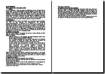 Cour de cassation, Chambre civile, 7 novembre 2000: le patrimoine