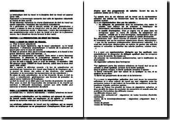 Droit du travail: les relations individuelles de travail et les qualifications de la rupture du CDI autres que le licenciement