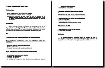 Le Conseil Constitutionnel depuis 1958