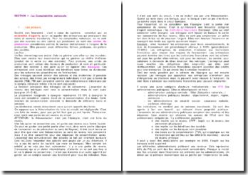 La comptabilité nationale: les acteurs, les catégories d'opérations et les comptes