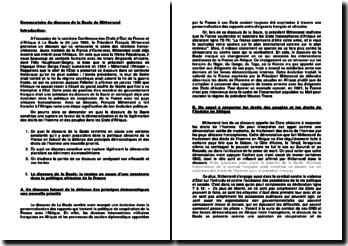 Commentaire du discours de Mitterrand à la Baule