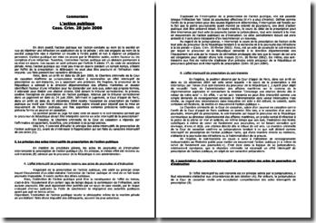 Cass. Crim. 28 juin 2006: l'action publique