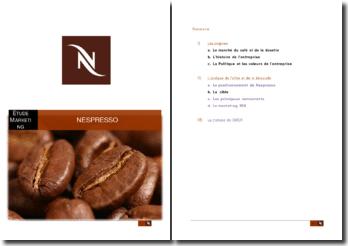 Etude marketing de Nespresso