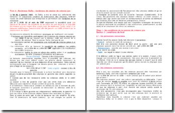 Bordereau Dailly : bordereau de cession de créance pro