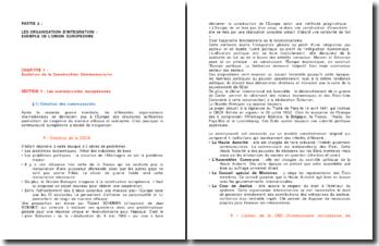 Les organisations d'intégration: exemple de l'Union Européenne