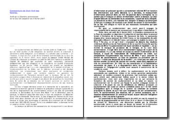 Cour de cassation, Chambre commerciale, 6 février 2007: le contrat de cautionnement