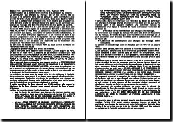 Cour de cassation, 1ère Chambre civile, 9 janvier 1979: l'indemnisation de la collaboration bénévole à la profession du conjoint