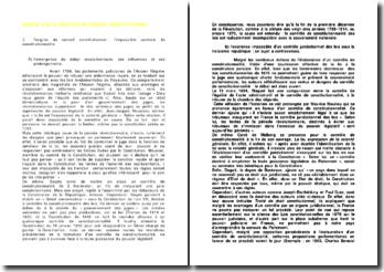 L'origine de la création du Conseil Constitutionnel