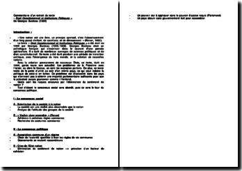 Droit Constitutionnel et Institutions Politiques - Georges Burdeau : quels sont les risques encourus par l'élimination du sentiment de nation ?