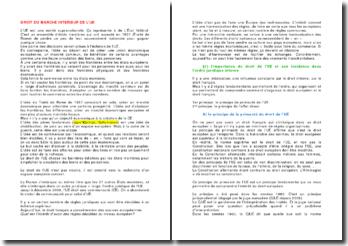 L'importance du Droit de l'Union européenne et son incidence dans l'ordre juridique interne