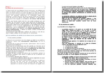 Droit social: les relations collectives de travail et les clauses du contrat de travail