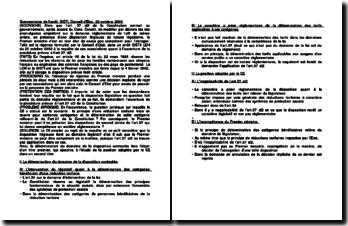 Conseil d'Etat, 22 octobre 2003, arrêt GISTI: le contrôle de constitutionnalité des lois