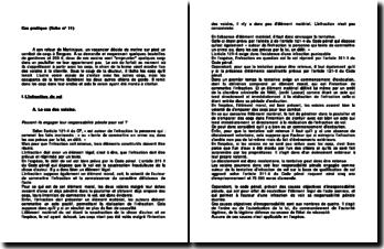 Etude de cas pratique sur la responsabilité pénale: l'organisation de combats de coqs