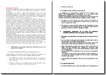 Cour de cassation, 1ère chambre civile, 27 février 2007: le respect de la vie privée et le droit à l'image