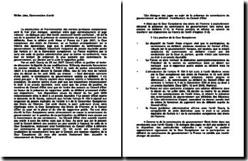 Conseil d'Etat, arrêt Courty, 25 mai 2007: l'exigence du procès équitable