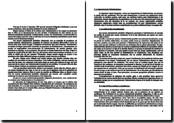 Droit administratif: recours préalable obligatoire