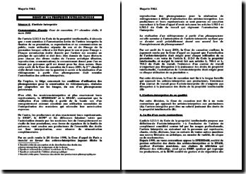 Cour de cassation, 1ère chambre civile, 6 mars 2001: droit de la propriété intellectuelle