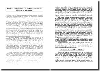 Analyse comparée de la codification selon Portalis et Bentham