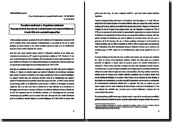 Le projet de loi de Jean Zay sur le droit d'auteur et le contrat d'édition du 13 août 1936 et de son intérêt aujourd'hui