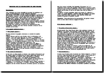 Discours sur le colonialisme de Aimé Césaire