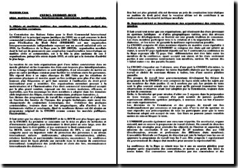 CNUDCI- UNIDROIT- HCCH: objet, matières traitées, fonctionnement et instruments juridiques produits