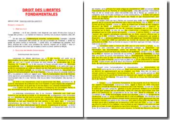 Droit des libertés fondamentales - dignité liberté et égalité