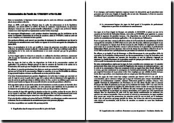 Commentaire de l'arrêt du 17/05/2011 n 10-13.460: redressement et liquidation judiciaires