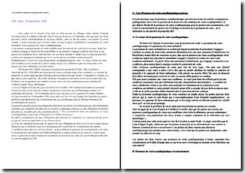 Chambre civile, 3ème , 20 décembre 1994: les avants-contrats ( promesse de vente )