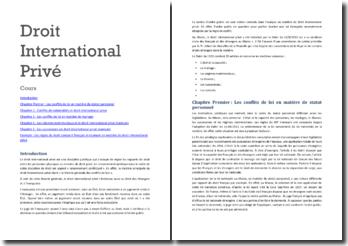 Droit international privé marocain: les conflits de lois