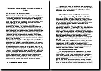Cour de cassation, AP, 21 décembre 2007 : les principes tenant aux rôles respectifs des parties et du juge