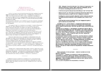 Analyse d'arrêt, 24 Mars 1993: le délégué du personnel